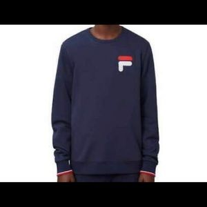 fila mens french terry crew neck